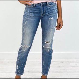 Judy blue distressed boyfriend jeans- 2XL